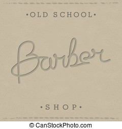 Retro template for Barber Shop - Stylish retro lettering for...