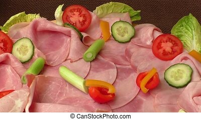 Meat platter with selection - Food tray with delicious...