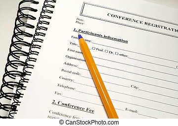 Registration form - fill up the form concept for conference...