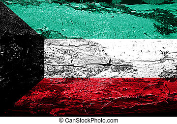 Kuwait flag with grunge texture