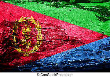 Eritrea flag with grunge texture