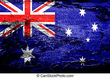 Australia flag with grunge texture