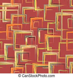 Vector squares pattern. Abstract geometric pattern...