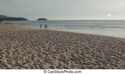 Beach landscape in Phuket - Karon Beach in Phuket and its...