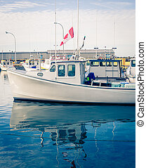 lobster fishing boat - Reflection of a lobster fishing boat...