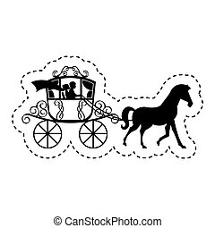 wedding carriage isolated icon