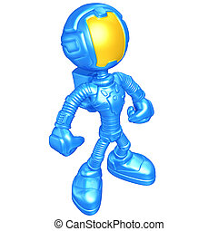 Mini Astronaut - A Concept And Presentation Illustration In...