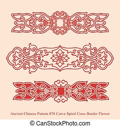 Ancient Chinese Pattern of Curve Spiral Cross Border Flower
