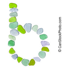 sea glass peices on white - backlit sea glass pieces mosaic,...