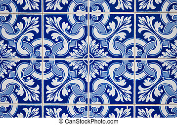 Ornamental old typical tiles from Portugal