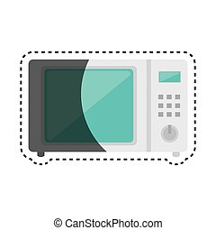 oven microwave kitchen appliance isolated icon
