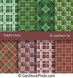 Set of tartan pattern