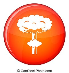 Nuclear explosion icon, flat style - Nuclear explosion icon...