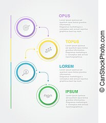 Abstract infographics number options template with 3D paper label, integrated circles. Business concept diagram,
