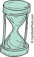 Vintage Hour Glass Drawing - Drawing sketch style...