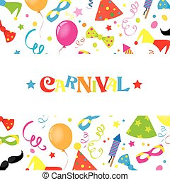 Happy carnival card