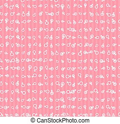 Vector Pattern 60s. Seamless Background Inspired Second Wave...