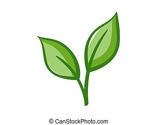 Eco Icon Green leaves - Vector illustration of ecology...