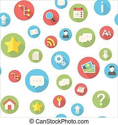 Seamless pattern with website icons vector illustration