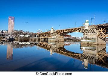 Burnside Bridge Reflection - Burnside bridge beautifully...