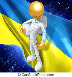Gold Guy Astronaut - A Concept And Presentation Illustration...
