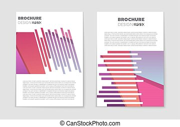Vector of Abstract vector layout background set. For art template ...