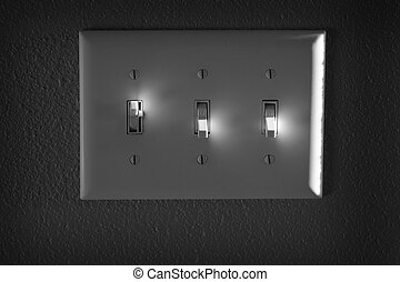 Light or Power Switch on Wall Highlights On and Off - On and...