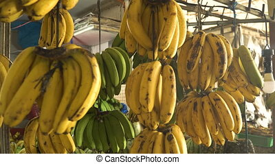 Bananas in the fruit market - Bananas in the street market....