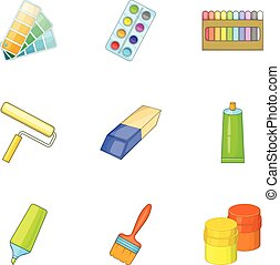 Art instruments for painting icons set