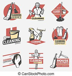 Colorful Cleaning Company Logotypes - Colorful cleaning...