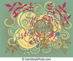 Floral mix - Abstract vector background of various separate...