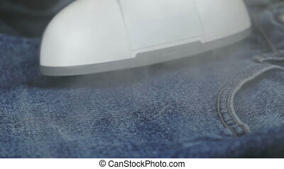 Process of steaming of jeans fabric using steamer - The...