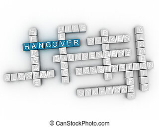 3d Hangover word cloud concept