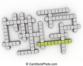 3d Indulgence word cloud concept