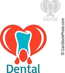 Dentistry or stomatology vector icon or emblem - Stomatology...