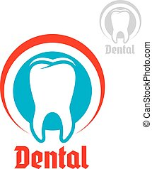 Dentistry vector isolated icon or emblem - Dentistry,...