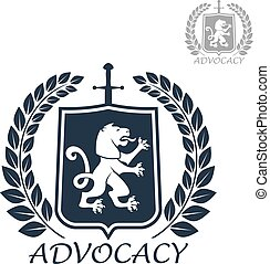 Advocacy vector isolated icon or emblem - Advocacy and...
