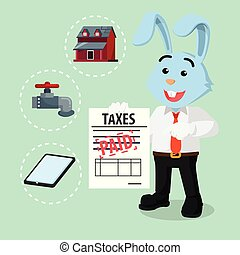 business rabbit already paid taxes