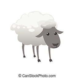 cute sheep color illustration design