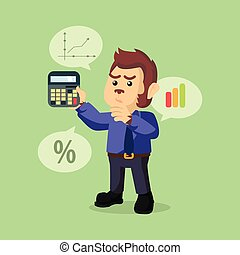 business monkey counting percentage