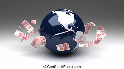 Global Business with Chinese Yuan (seamless)