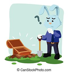 business rabbit with empty chest