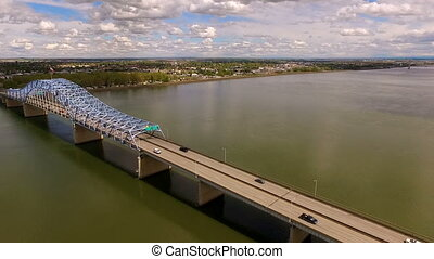 Clouds Pioneer Memorial Bridge Columbia River Kennewick...