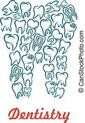 Dentistry, stomatology tooth vector poster - Stomatology and...