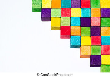 colorful blocks and text space