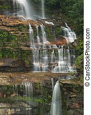 Waterfall in Katoomba - Waterfall coming down on the cliffs