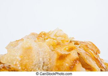 sweet roti with sweetened condensed milk on top