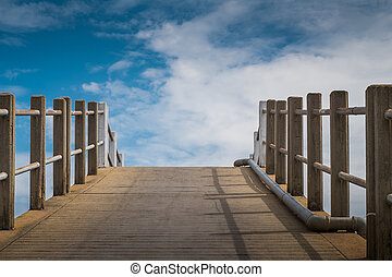 Road to Success - Bridge up to the sky means the path to...