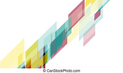Colorful tech abstract motion background - Colorful tech...