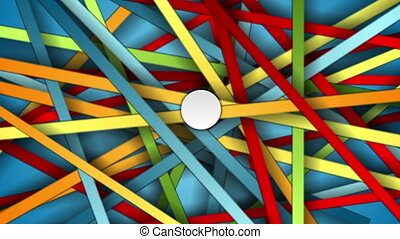 Colorful abstract stripes motion graphic design.